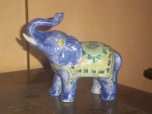 Elephant Porte Bonheur : elephant porte bonheur photo de peinture sur porcelaine domydoff ~ Melissatoandfro.com Idées de Décoration