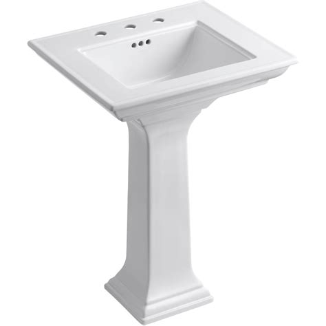 Shop Kohler Memoirs 34 75 In H White Fire Clay Pedestal