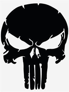 The, Punisher, Skull, Distressed, Vinyl, Graphic, Decal