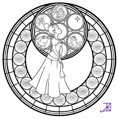 Stained Glass Coloring Pages Window Line Popular