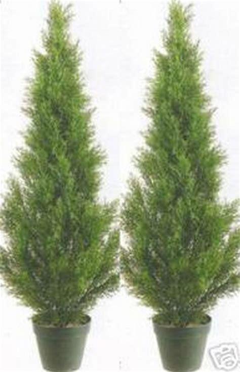 2 artificial 3 cedar topiary tree outdoor uv plant 36