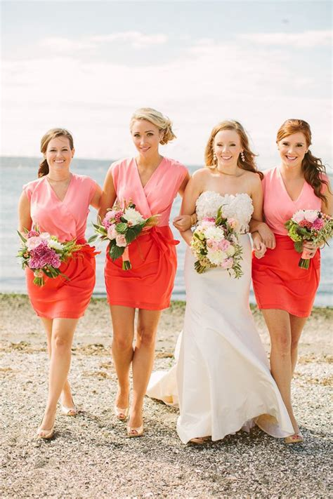 ruby red beachside wedding