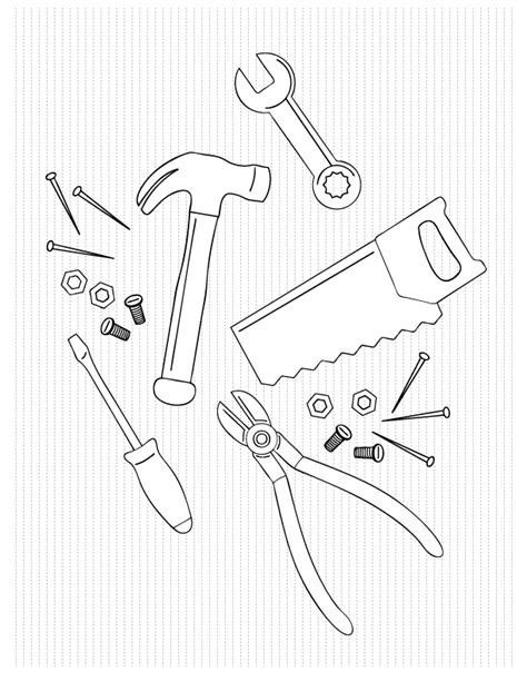 toolbox coloring page coloring pages make and takes