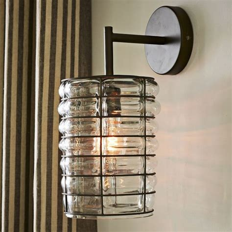 linear blown glass sconce contemporary wall sconces