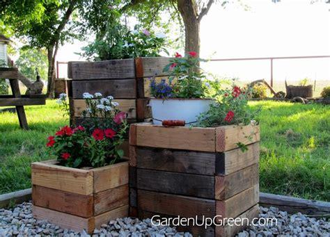 diy reclaimed wood planter boxes modern homesteading