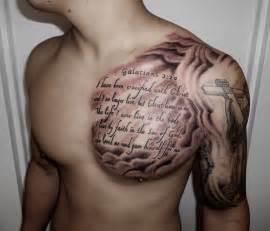 Scripture Chest Tattoos for Men