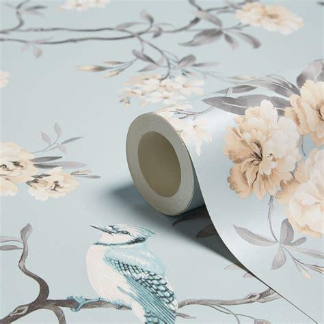 fine decor chinoiserie teal foliage birds