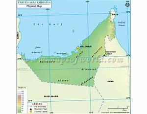 Buy United Arab Emirates Physical Map
