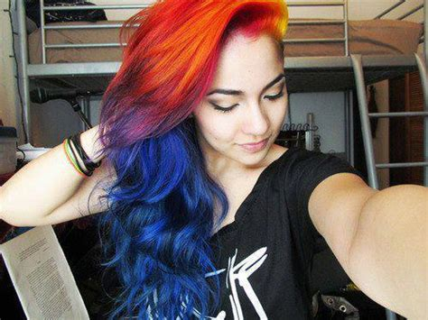 Beautiful, Colored Hair, Dyed Hair, Multicolor