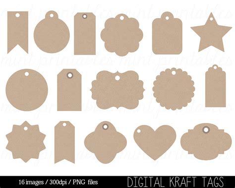 Kraft Paper Tags Digital Clipart Label Clip Art Swing Tag