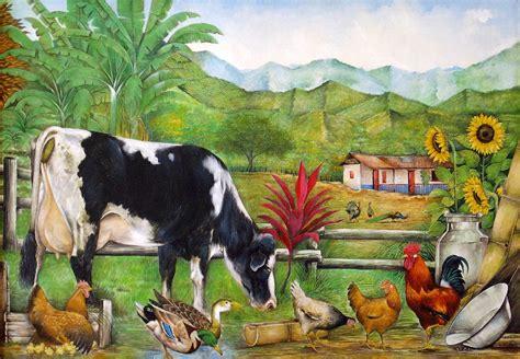 paisaje con animales angelafuentes