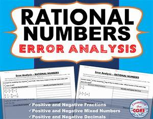 RATIONAL NUMBERS (Fractions and Decimals) Error Analysis ...