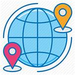 Shipping Worldwide Delivery Icon International Logistics Global