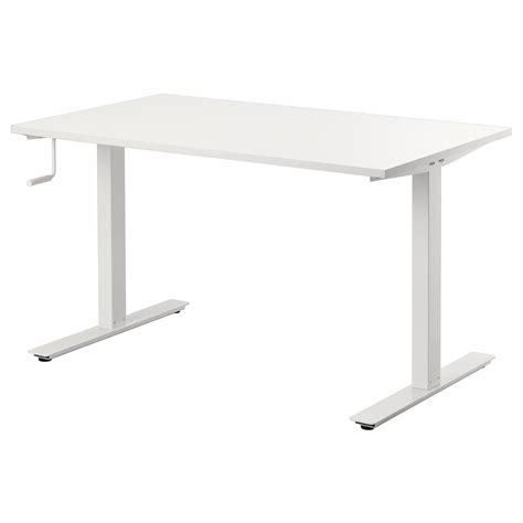 position au bureau skarsta desk sit stand white 120x70 cm ikea