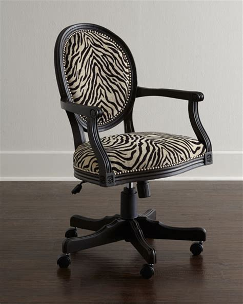 zebra print desk chair zebra office chair
