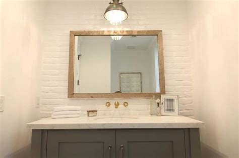bathroom designs  brick walls