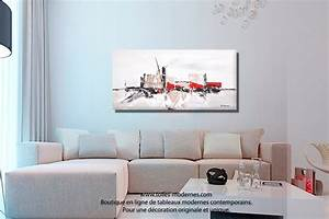 Tableau Salon Moderne : tableau decoratif salon maison design ~ Farleysfitness.com Idées de Décoration