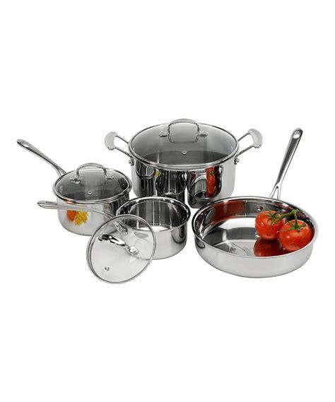 tri ply stainless steel  piece cookware set  excelsteel zulily zulilyfinds cookware