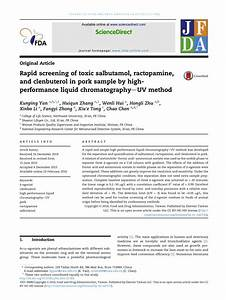 Pdf  Rapid Screening Of Toxic Salbutamol  Ractopamine  And Clenbuterol In Pork Sample By High
