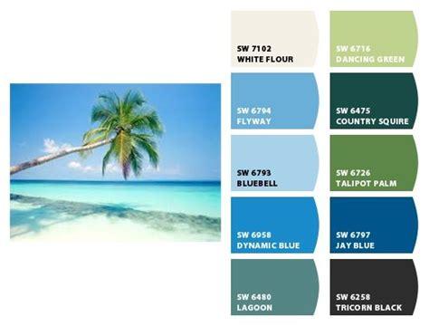 tropical color schemes paint shapeyourminds