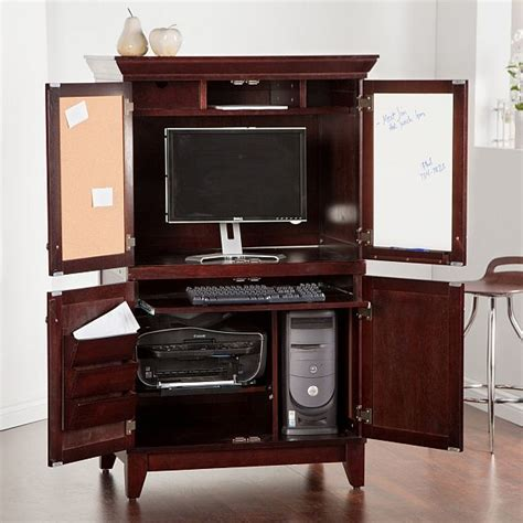 Used Computer Armoire by Chic Computer Armoire