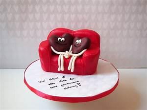 Sofa Torte für Verliebte