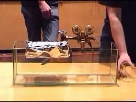 Floating A Boat On Gas by Model Boat Floating On Sulphur Hexafluoride A Dense
