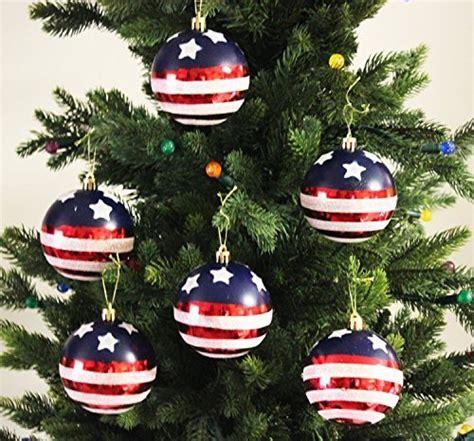 red white  blue christmas ornaments amazoncom