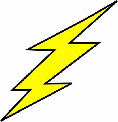 Flash Clipart Bolt Lightning Outline Cliparts Clip