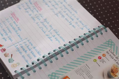 comment ranger ses recettes de cuisine my recipe book mon carnet de recettes kawai merci pour le chocolat