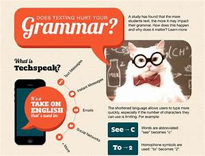 Infographic  Does Texting Hurt Your Grammar