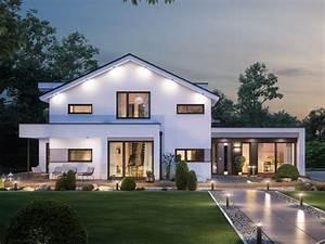 Fertighaus Mit Satteldach : modernes fertighaus mit b ro anbau haus concept m 166 bien zenker einfamilienhaus bauen mit ~ Sanjose-hotels-ca.com Haus und Dekorationen