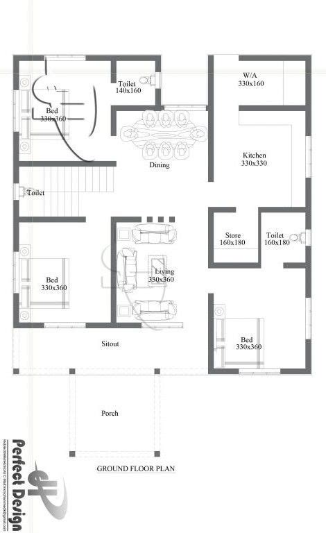 Large 2 Bedroom House Plans by Kerala Single Floor House Plans With Photos Small 3