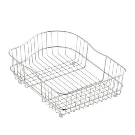 kohler hartland sink rack kohler hartland wire rinse basket for right basin