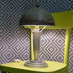 Lampe Art Deco : lampe champignon art d co lignedebrocante brocante en ligne chine pour vous meubles vintage ~ Teatrodelosmanantiales.com Idées de Décoration
