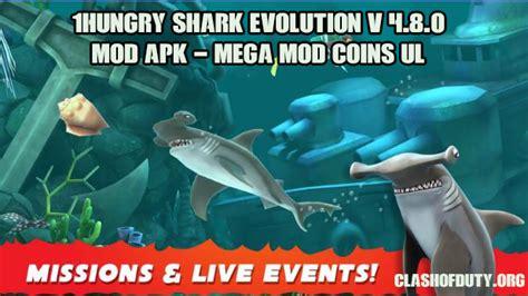 hungry shark evolution v 4 9 0 mod apk mega mod coins ul