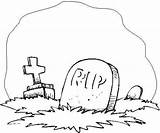 Tombstone Coloring Pages Clipart Clip Cliparts Library Attribution Forget Link Don sketch template