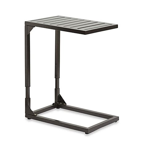 bed bath and beyond side table adjustable side table in bronze bed bath beyond