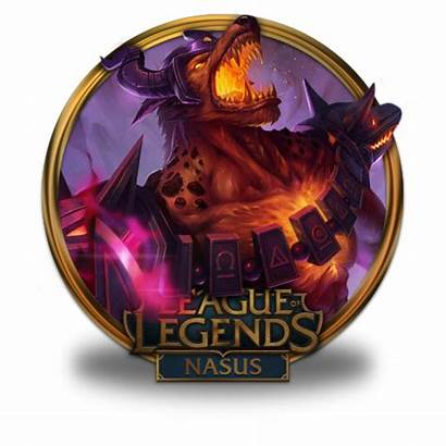 Nasus Icon Legends League Border Gold Infernal