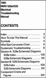 1985 Bmw 528e 535i Electrical Troubleshooting Manual