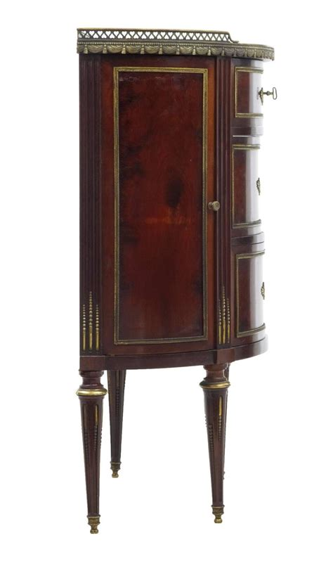 pictures of kitchen cabinet doors late 19th century mahogany marble top demilune cabinet for 7462