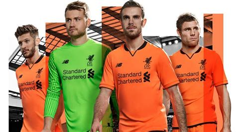 Liverpool release bright orange third kit for 2017/18 ...
