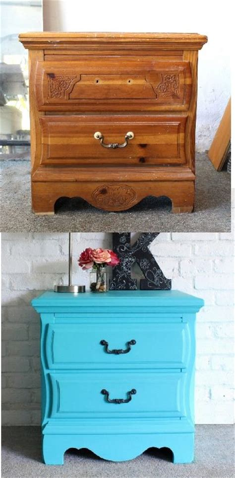 chalk painted night stand makeover