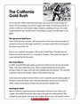 California Gold Rush: Sutter's Mill | Teach | Gold rush ...