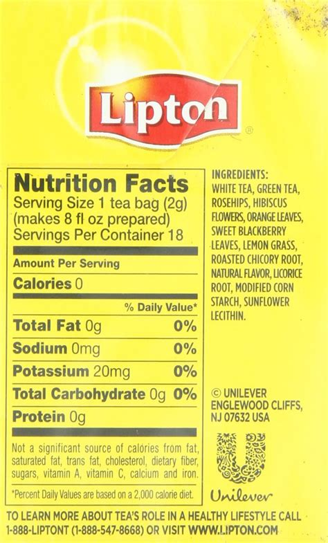 iced tea nutrition facts lipton blog dandk