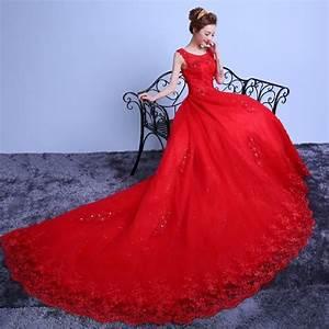 Robe Rouge Mariage Invité : xl nouveau rouge de mariage robe 100 cm cath drale train robe de mari e plus taille crytal de ~ Farleysfitness.com Idées de Décoration