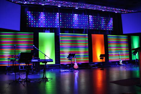 church stage designs disco tech church stage design ideas