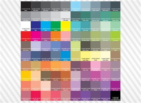 cmyk colors cmyk color chart jpg 1024 215 750 crafty