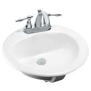 glacier bay bathroom sinks glacier bay drop in bathroom sink in white 13 0013 4whd
