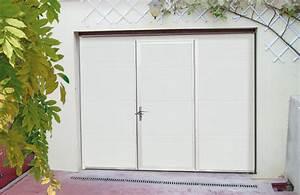 Installation thermique portail garage sectionnel sur mesure for Porte de garage coulissante jumelé avec installation porte